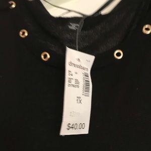 Black sweater / cold shoulder shirt